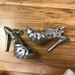 Aldo silver heels